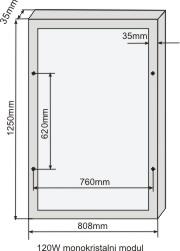 120w modul dimenzije
